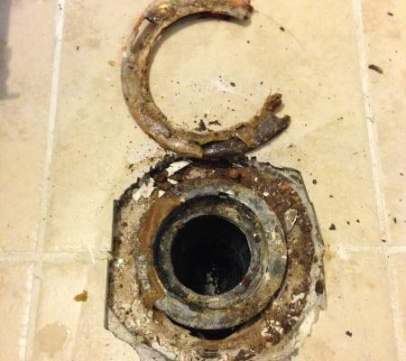 toilet flange repair